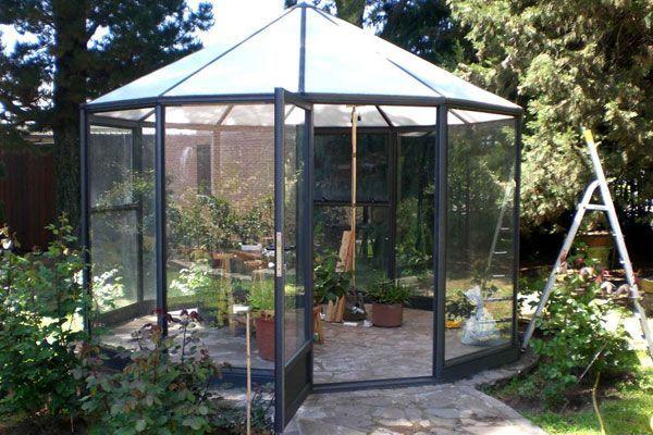 Deco en pinterest fogatas dise os en mosaico y verandas - Invernadero de cristal ...